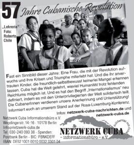 57 Jahre cubanische Revolution