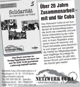Über 20 Jahre Solidarität mit und für Cuba