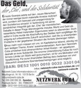 Das Geld - der Che und die Solidarität