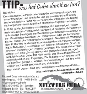 TTIP - was hat Cuba damit zu tun?