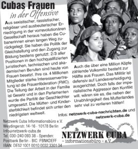 Cubas Frauen in der Offensive